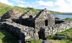 Ancient ruins on High Island