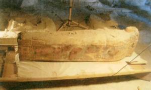 Ancient sarcophagus belonging to singer of god Amun - Luxor