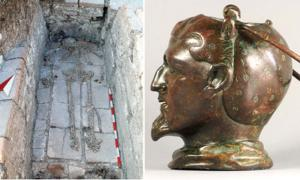 Left: The balsamarium was found beside the burial of a man who died between 35 and 40 years old. Right: Balsamarium from the brick grave in the Kral Mezar tumulus. Credit: Daniela Agre, Deyan Dichev and Gennady Agre / ajaonline.org.