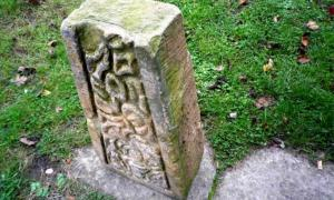 James Balme found this stone on sale as a garden ornament in England