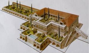 Illustrated reconstruction shows how the luxurious villa may have looked during its height.