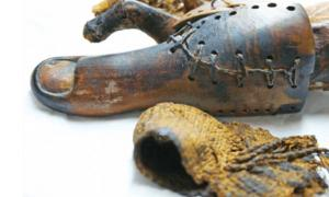 False toe on mummy found near Luxor.