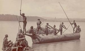Group of Andaman Men and Women.