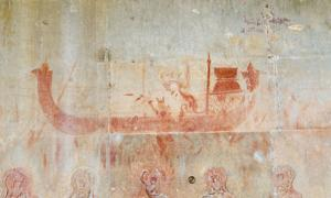 Hidden paintings in Angkor Wat