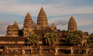 The spectacular architecture of Angkor Wat, Cambodia