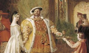 Henry VIII's first interview with Anne Boleyn.