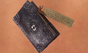 Example of Anthropodermic bibliopegy – an 18-19th century notebook allegedly covered with human skin.