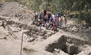 Excavation site at what is believed to be the lost Roman city of Julias, home of three apostles of Jesus.