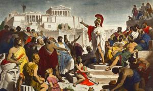 Pericles' Funeral Oration, Philipp Foltz, 1877.