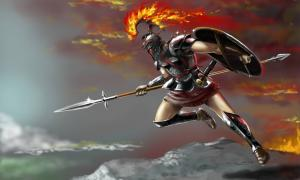 Ares, God of war in ancient Greece.