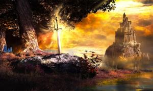 Sword in the Stone is one tale from Arthurian legend. Source: Melkor3D / Adobe Stock.