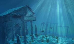 Artist's representation of Atlantis