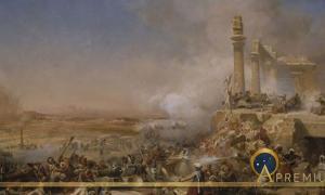Battle of Heliopolis during Napoleon's invasion of Egypt in 1800 by Léon Cogniet. Collections du château de Versailles. (Public Domain)