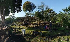 Atop Gunung Padang mountain / pyramid.