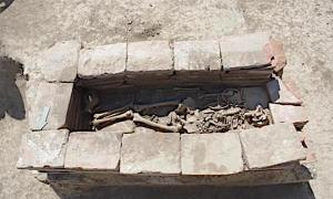 One of the Avar warrior graves unearthed in the Vinkovci City Cemetery in Croatia.	Source: Ivan Bosancic