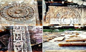 Discoveries made at the Ayodhya excavation site.     Source: Shri Ram Janmbhoomi Teerth Kshetra Trust