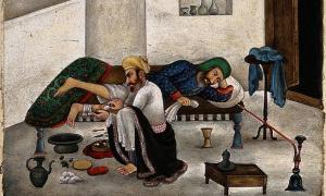 'Ayurvedic Medicine. Man of the Medical caste, masseuse.'