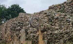 Representation of ancient Mesoamerican ballgame court in Mexico.  Source: smoke666 / Adobe stock