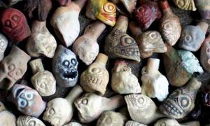 Aztec death whistle experimental replicas