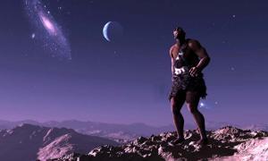 Early man looking up at the stars (Kovalenko I / Adobe Stock)