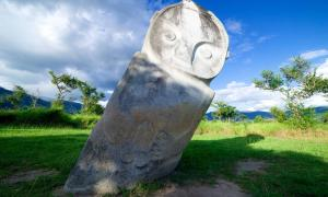 A Bada Valley megalith, Indonesia.