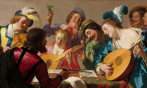 Gerard van Honthorst's 1623 painting 'The Concert.'
