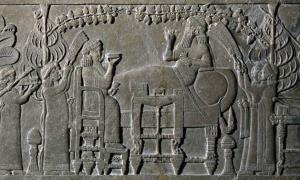 'The Banquet Scene' relief panel, 645BC-635BC.