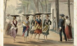 Basque women in Bayonne (1852)