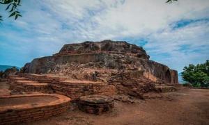 The ruins of Bavikonda, Andhra Pradesh, India.