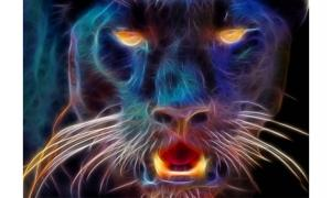 Artist's rendering of the Beast of Exmoor.