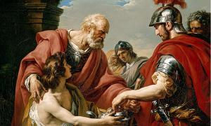 Bélisaire, depicting Belisarius as a blind beggar.