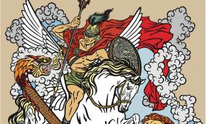 According to ancient Greek mythology, the hero Bellerophon with the aid of the winged horse Pegasus slew the monstrous creature known as the Chimera.           Source: insima / Adobe stock