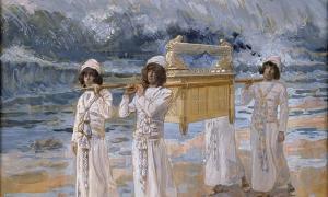 The Ark Passes Over the Jordan, James Jacques Joseph Tissot (1836 - 1902)