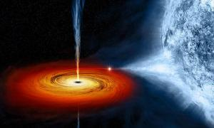 NASA artist's depiction of the Black hole Cygnus X-1.