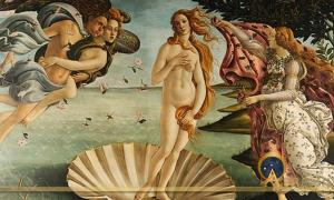 The Birth of Venus by Sandro Botticelli  (1445-1510)(Public Domain)