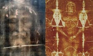 The Shroud of Turin: modern, digitally processed image of the face on the cloth