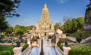 Mahabodhi Temple, Bodh Gaya, India. The site where Buddha attained enlightenment.  Source: tinnaporn / Adobe Stock