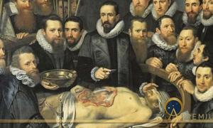 Anatomy lesson of Dr. Willem van der Meer by Michiel Jansz van Mierevelt (1617) (Public Domain)