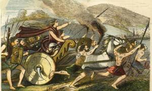 Boudicca led her people in a revolt against the Romans in Camulodunum, Londinium, and Verulamium.