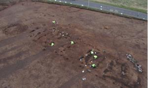 The remains of the largest Neolithic hall found in Britain, which was discovered in Carnoustie, Angus.