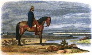 Alfred the Great, the Anglo-Saxon King of Wessex, has long been credited as the founder of the Royal Navy. Legend has it that he battled against the Vikings in the 880s and 890s, and even built his own longships to ensure victory against the Danes. In this engraving by Edmund Evans, he can be seen plotting the capture of the Danish fleet. Source: Public domain.
