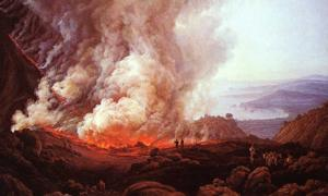 Representative image. The Eruption of Vesuvius in December 1820 by Johann Christian Dahl