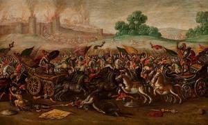 The Burning of Jerusalem by Nebuchadnezzar's Army (1630-1660)