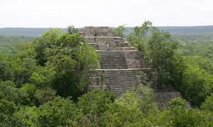 Structure I, one of the two pyramids at Calakmul.