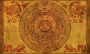 Mayan calendar on parchment