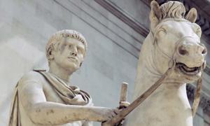 An equestrian statue of a Julio-Claudian prince, originally identified as Caligula.