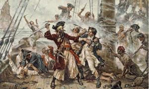 Capture of the Pirate, Blackbeard, 1718