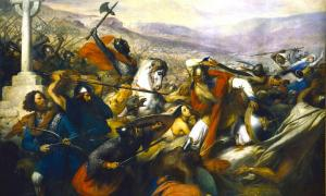 The Carolingian dynasty's victory at the Battle of Tours is considered a turning point in European history. Source: Bender235 / Public Domain.
