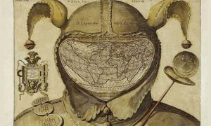 The Fool's Cap Map of the World.