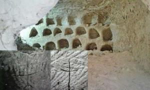 Surprising Carvings Depicting a Cross and a Menorah Found in an Undisclosed Ritual Cave